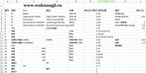 USB矿机生产元件表,USB矿机生产成本只有50元不到!
