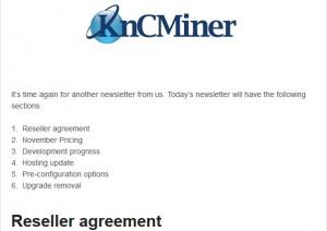 KncMiner公司改变营销应对南瓜开发55nm芯片,开始招收代理!
