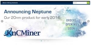 Kncminer再出20nm矿机,最低速度达到3TH,命名海王星