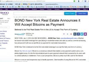 纽约债券房地产接受比特币