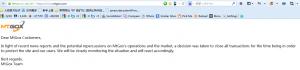 对于联合声明,来自mtgox的反击:mtgox网站公告